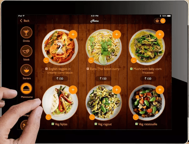 digital menu restoran
