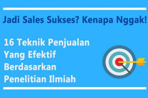 teknik penjualan untuk sales sukses