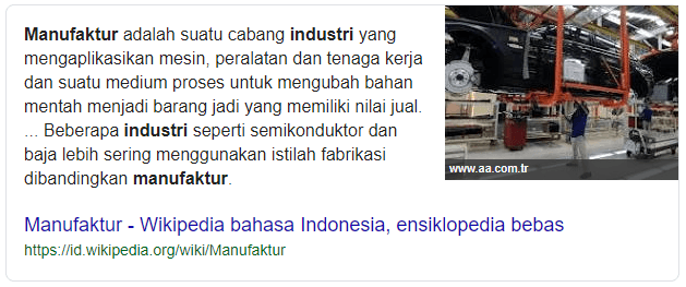 Pengertian Industri Manufaktur