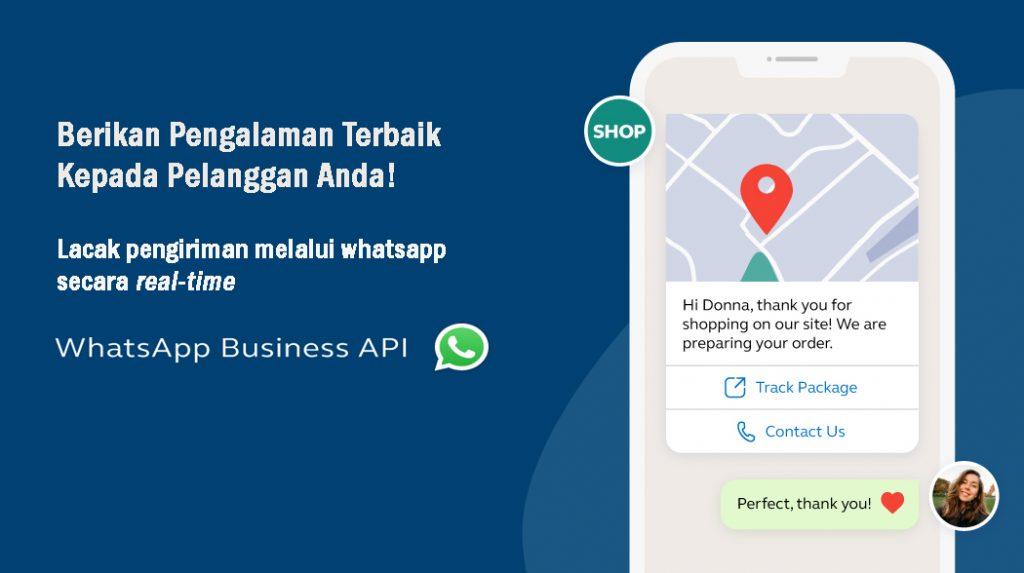 lacak pengiriman melalui whatsapp